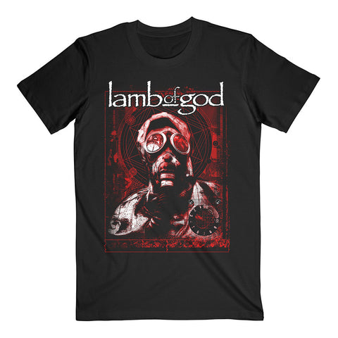 Lamb Of God Gas Mask Waves Official T-Shirt