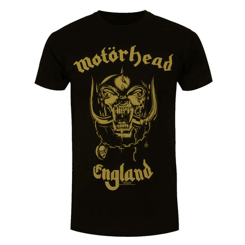 Motorhead England Gold Official T-Shirt