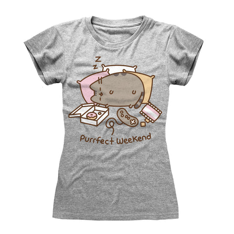 Pusheen The Cat Purrfect Weekend Official Ladies T-Shirt