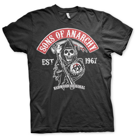 Sons of Anarchy Red Patch Official T-Shirt
