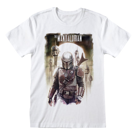 Star Wars The Mandalorian Trooper Head Poster Official T-Shirt