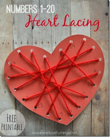 Valentine's Day Heart Lacing Craft