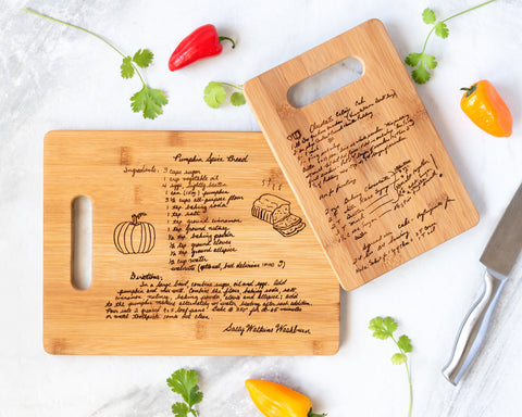 Custom Engraved Family Recipe Cutting Board Mothers Day Gift Idea