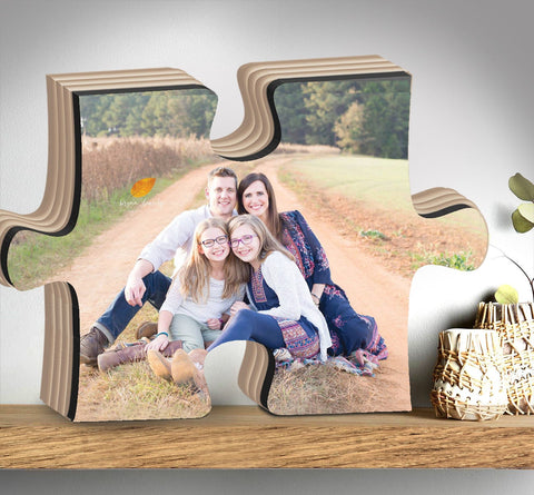 Personalized Mother's Day Gift Puzzle Piece With Photo For Mom