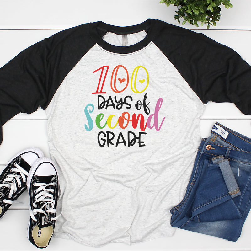 100 Days of Second Grade Raglan HUN-041