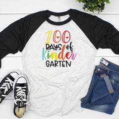 100 Days of Kindergarten Raglan HUN-030