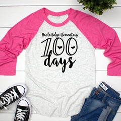 100 Days Personalized Raglan HUN-035