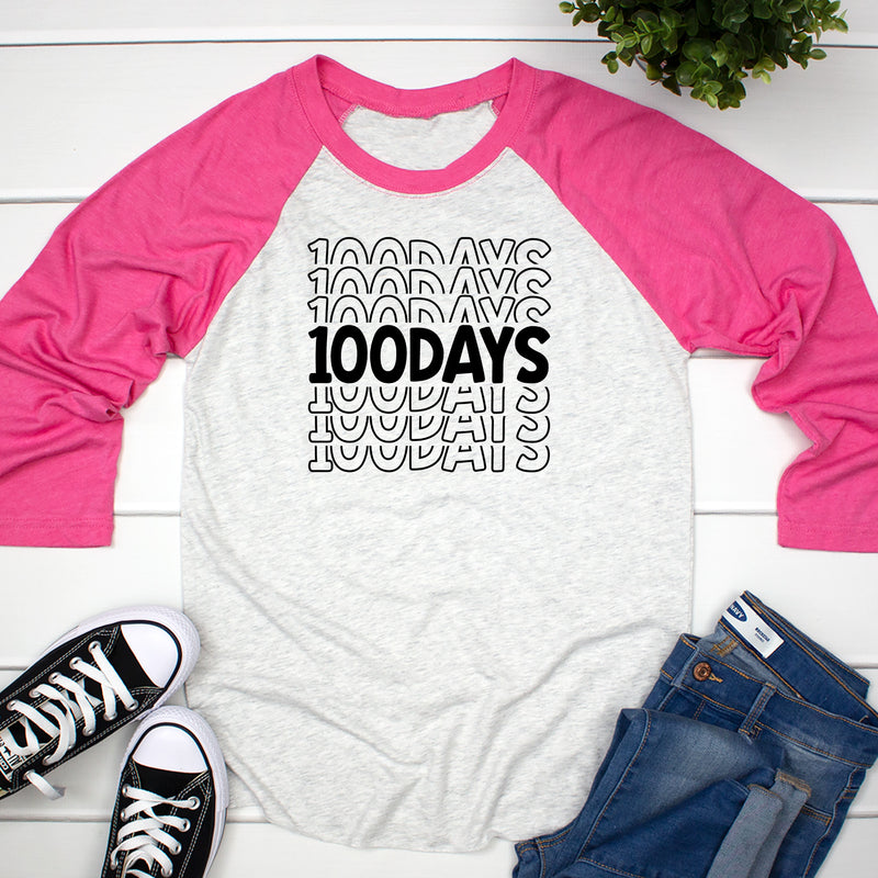 100 Days Stacked Raglan HUN-034