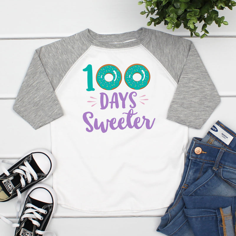 100 Days Sweeter Raglan HUN-007