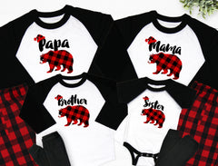 Family Bear Buffalo Christmas Pajamas