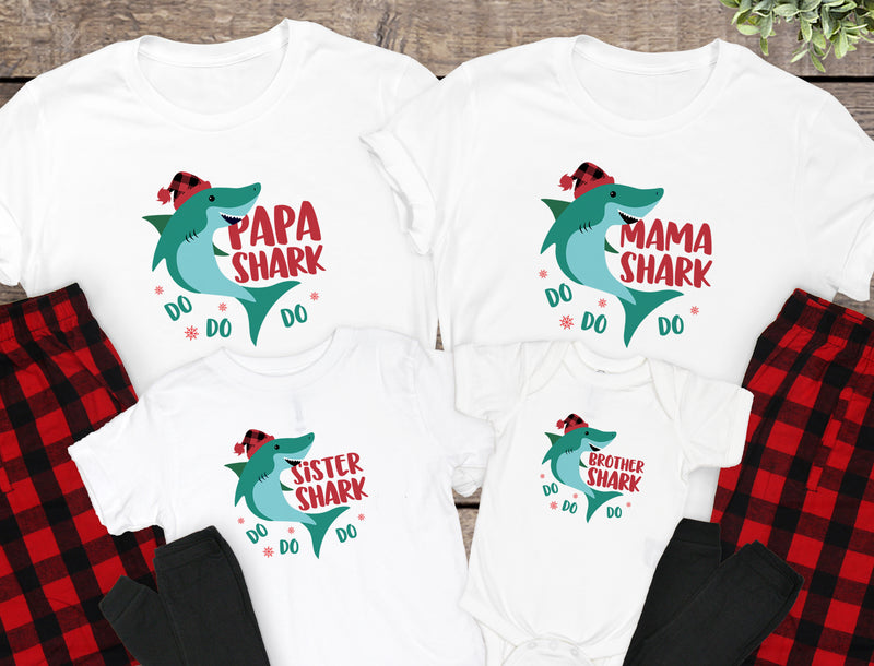 Family Shark Christmas Pajamas