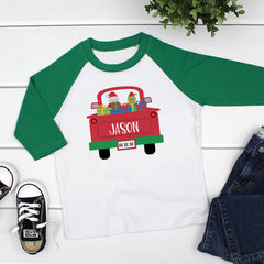 Back of Truck Boy Christmas CHR-055