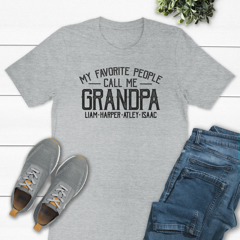 My Favorite People Call Me Grandpa Typography DAD-027