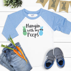 Easter Hangin' With My Peeps Raglan EAS-045