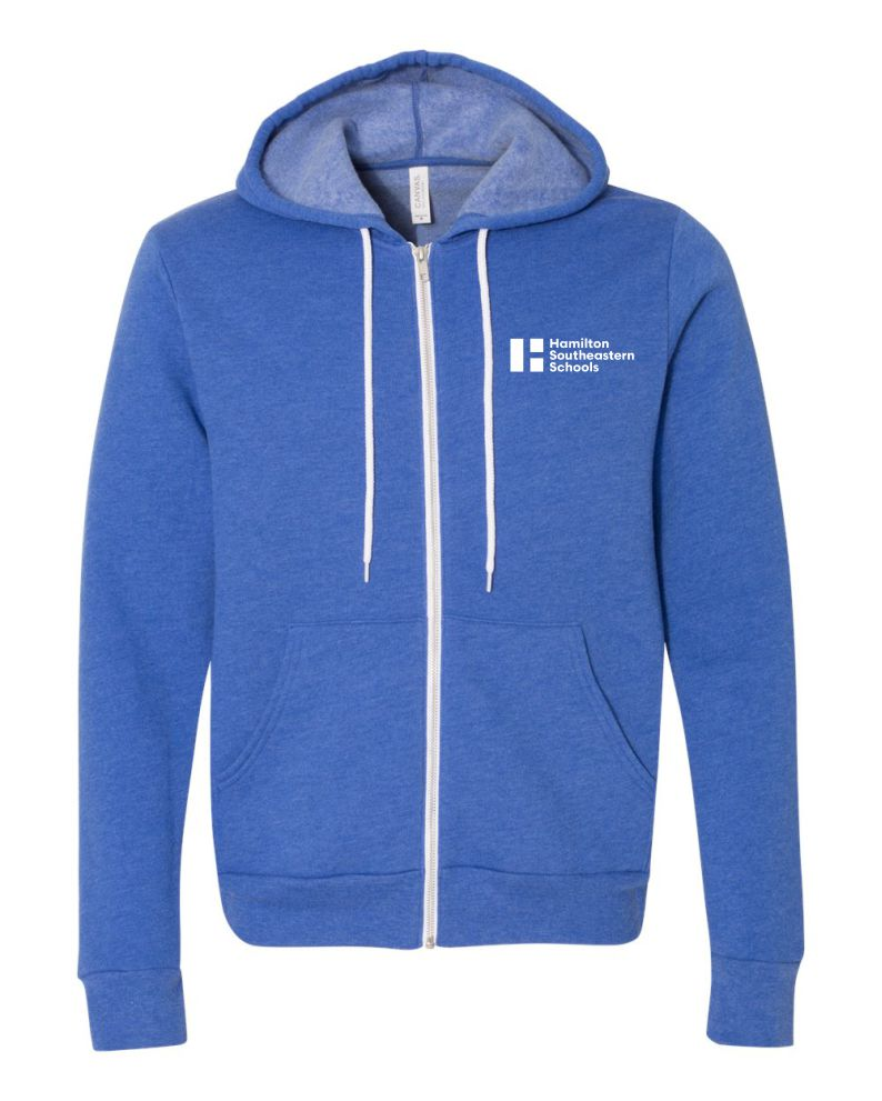 Heather True Royal Full Zip Sweatshirt