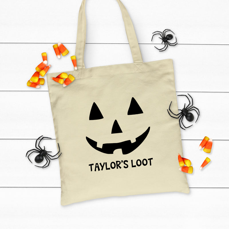 Pumpkin Face Tote Bag HAL-047