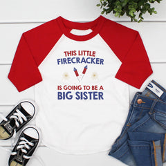 This Little Firecracker Is Going To Be A Big Sis JUL-017