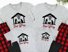 True Story Nativity Christmas Pajamas