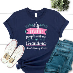 My Favorite People Call Me Grandma Floral MOM-016