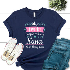 My Favorite People Call Me Nana Floral MOM-016