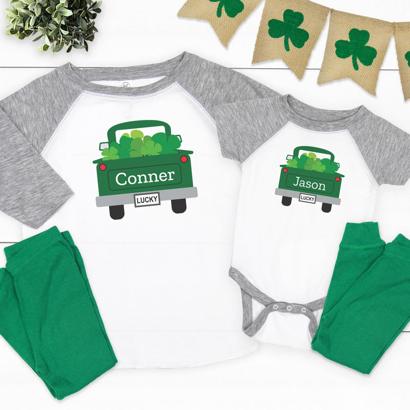 Back Of Truck St. Patrick's Day Pajamas PAT-005