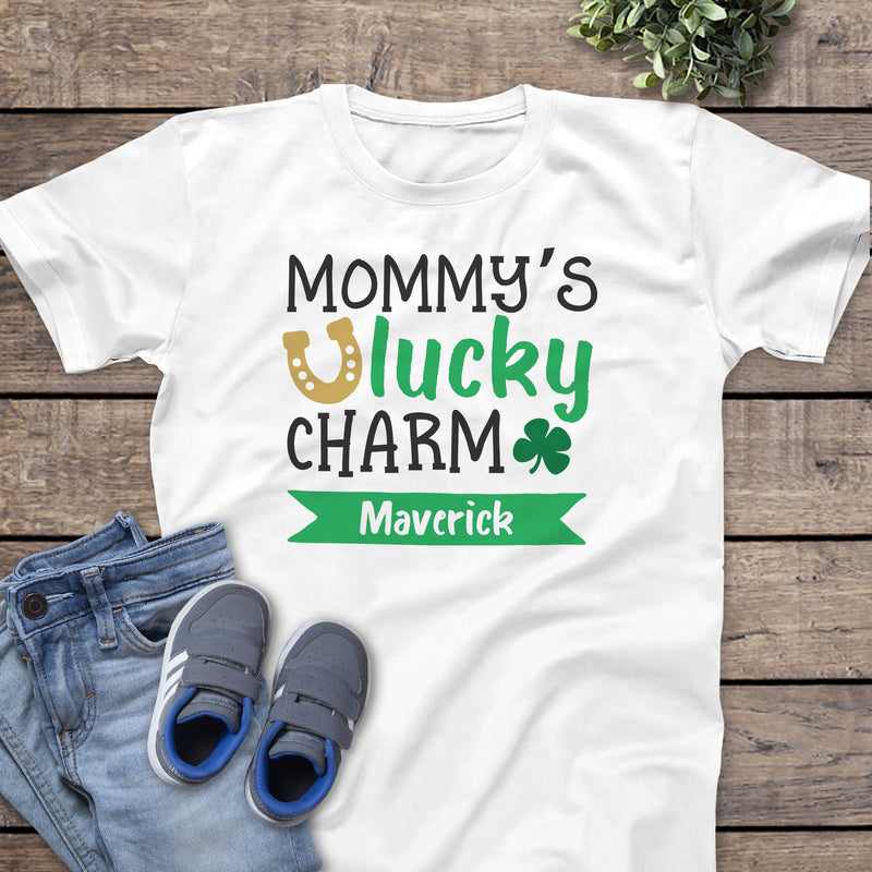 St. Patrick's Day Mommy's Lucky Charm Shirt PAT-013