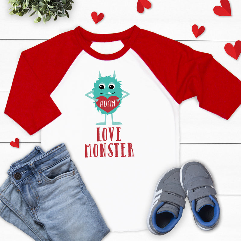 Love Monster Valentine's Raglan VAL-007