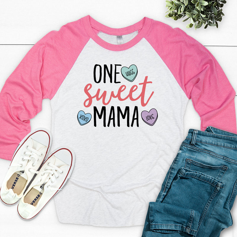 One Sweet Mama Valentine's Day Raglan VAL-024