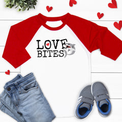 Love Bites Shark Valentine's Shirt VAL-035