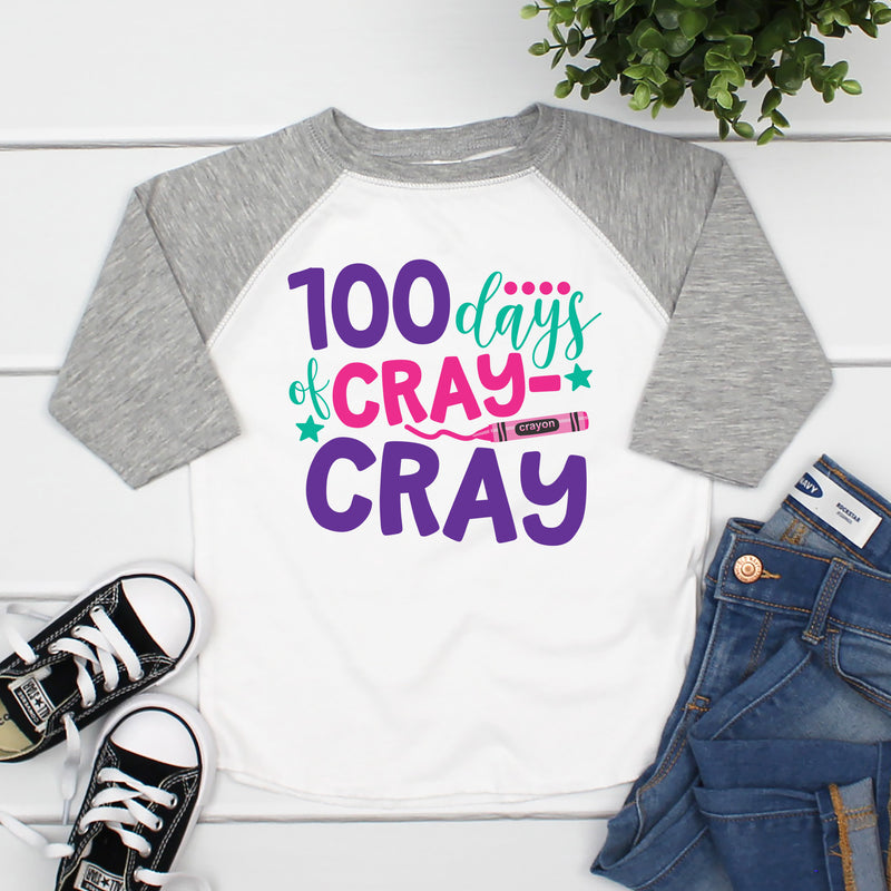 100 Days of Cray Cray Raglan HUN-012