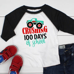Crushing 100 Days of School Raglan MHUN-021