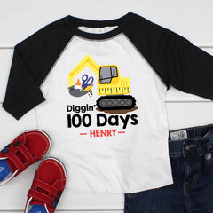 Digging 100 Days of School Raglan HUN-003