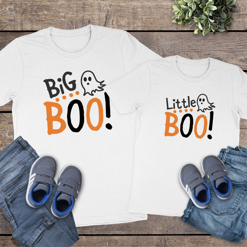 Big Boo & Little Boo White Tee HAL-039&40