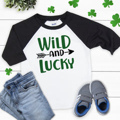 St. Patrick's Day Wild and Lucky Shirt PAT-015