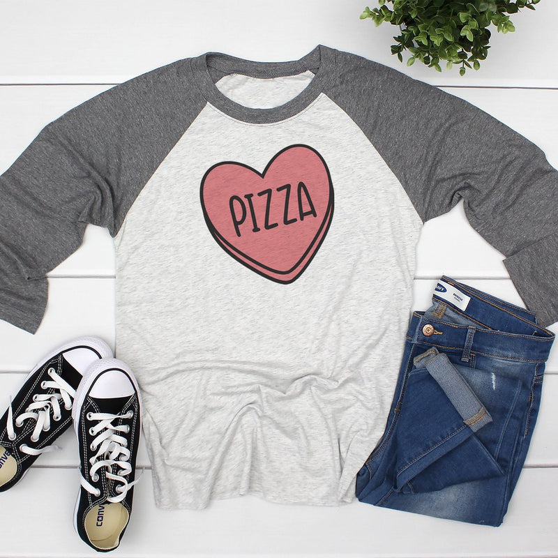 Candy Heart Pizza Valentine's Shirt  VAL-038