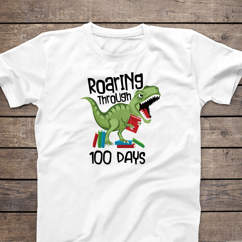 Roaring Through 100 Days Tshirt HUN-025