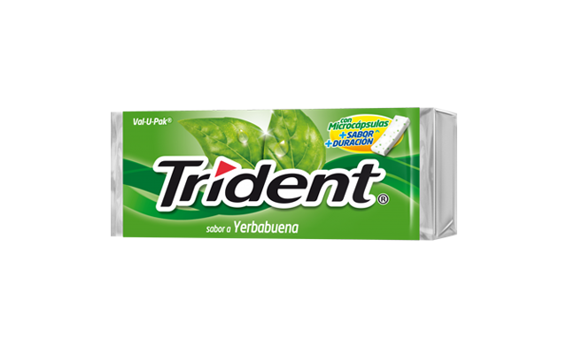 Trident Chicle Value Pack Yerbabuena 30gr.