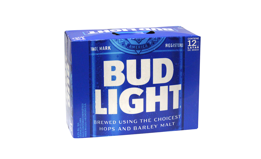 Cerveza Lata Light Bud Light 12.0 - Pack