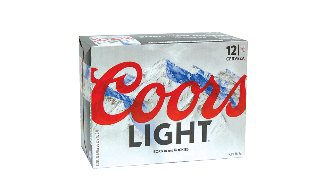Cerveza Lata Light Coors 12.0 - Pack