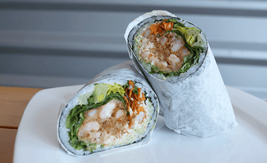 Sweet & Sour Fried Shrimp Burrito