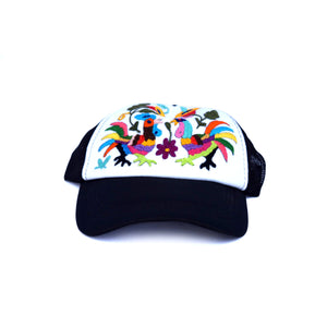 Trucker Hat with Otomi Embroidery