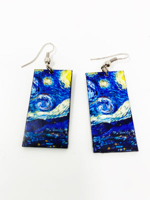 Vang Gogh Starry Night Earrings