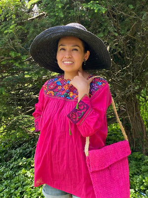Mexican pink blouse