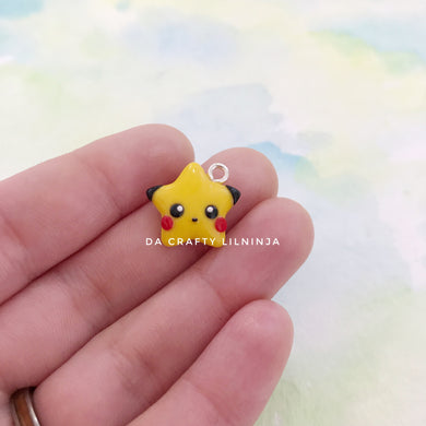 Yellow Kawaii Mouse Lilninja Star Polymer Clay Charm