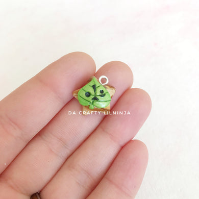 Green Leaf Spirit Lilninja Star Polymer Clay Charm