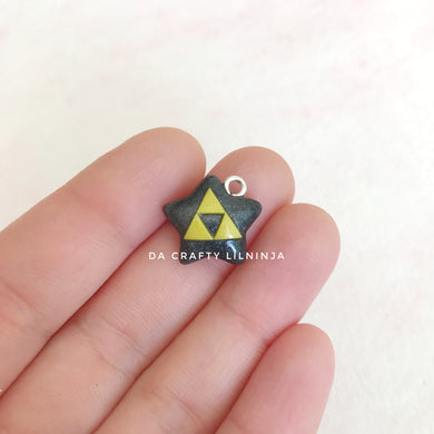 Triangle Force Lilninja Star Polymer Clay Charm