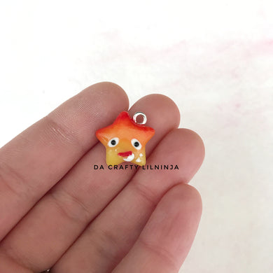 Fire Demon Eating Eggshell Lilninja Star Polymer Clay Charm