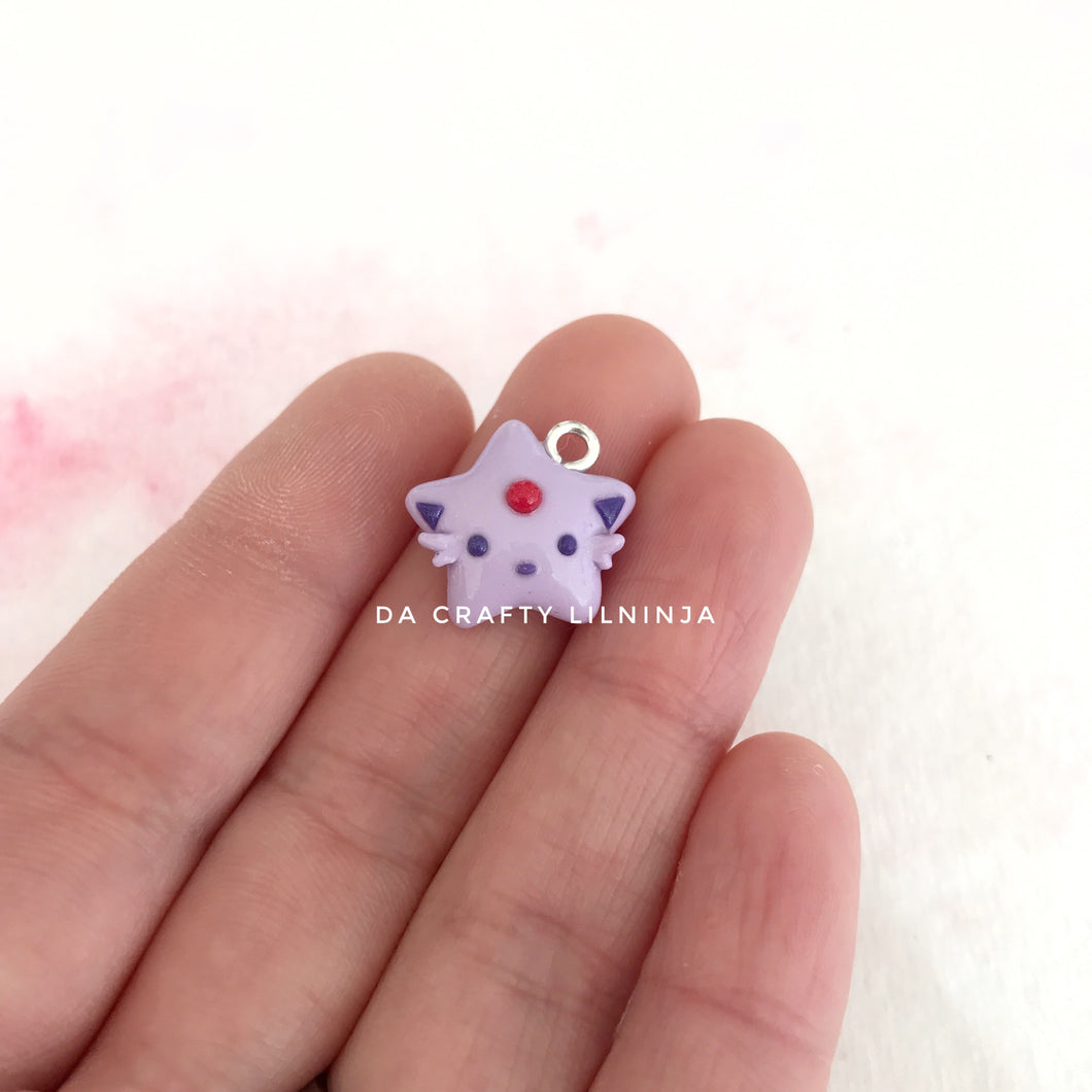 Psychic Purple Fox Lilninja Star Polymer Clay Charm