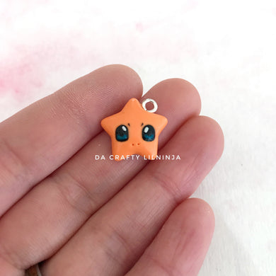 Baby Fire Dragon Lilninja Star Polymer Clay Charm