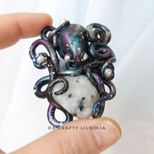 Octo Galaxy Moonstone, Polymer Clay, Crystals